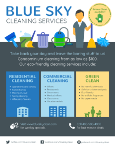Cleaning Service Flyer with Commercial Cleaning Brochure Templates