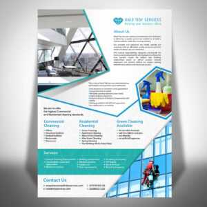 Cleaning Service Flyers Sample – Tomope.zaribanks.co with regard to Commercial Cleaning Brochure Templates