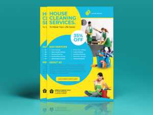 Cleaning Services Flyer Template On Student Show in Commercial Cleaning Brochure Templates