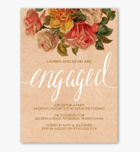 Clip Art Engagement Party Invitations Templates – Engagement with regard to Engagement Invitation Card Template