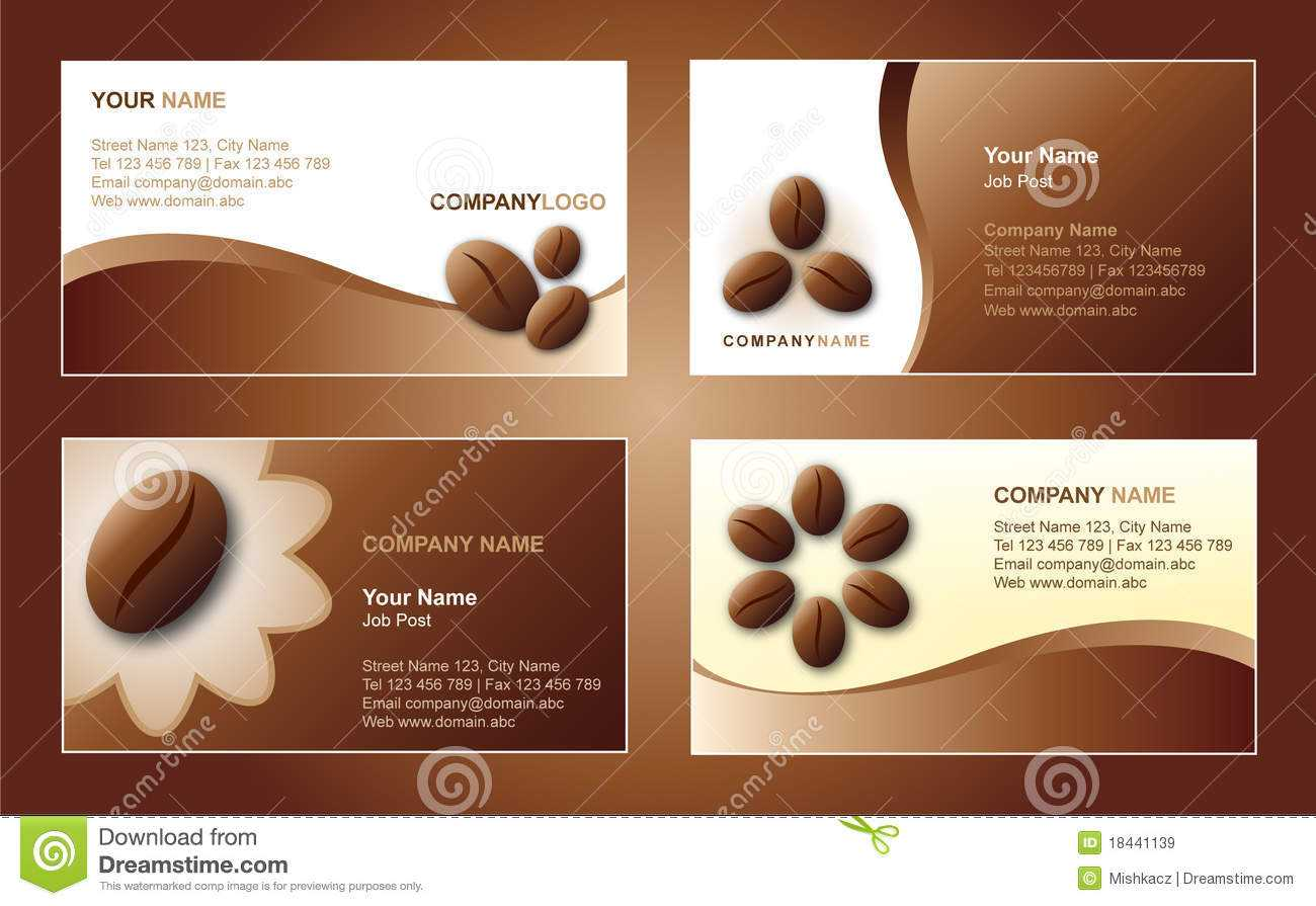 Coffee Business Card Template Stock Vector - Illustration Of Inside Coffee Business Card Template Free