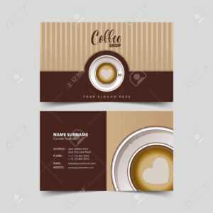 Coffee Shop Business Card Design Template. throughout Coffee Business Card Template Free