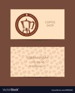 Coffee Shop Or Company Business Card for Coffee Business Card Template Free