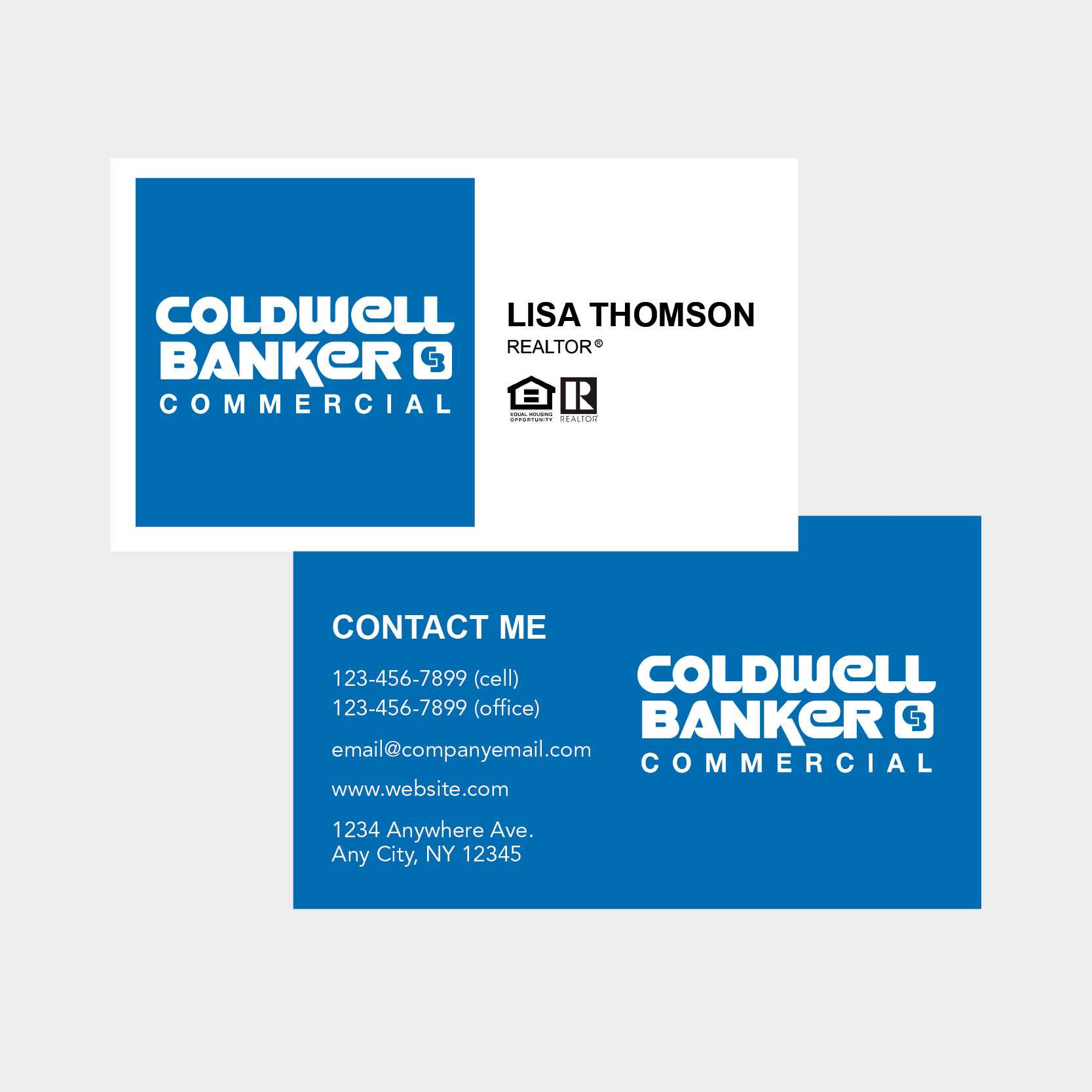 Coldwell Banker Business Card Throughout Coldwell Banker Business Card Template