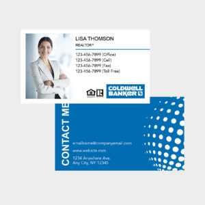 Coldwell Banker Business Cards inside Coldwell Banker Business Card Template