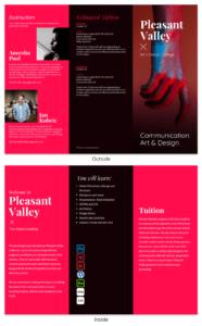 College Tri Fold Brochure throughout Tri Fold School Brochure Template