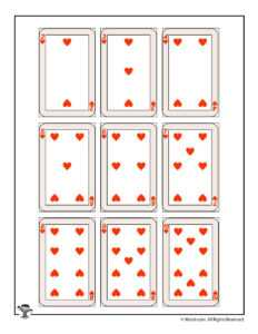 Color Pages ~ Printable Playing Cards Astonishing Color in Free Printable Playing Cards Template