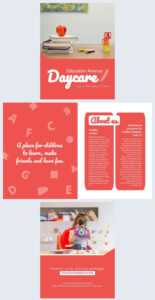 Colorful Daycare Brochure Template – Flipsnack for Daycare Brochure Template