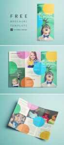 Colorful School Brochure – Tri Fold Template | Download Free for Play School Brochure Templates