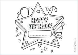 Coloring Pages : Coloring Printable Birthday Amazing Card throughout Template For Cards To Print Free
