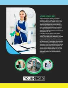 Commercial Office Cleaning Flyer Template intended for Commercial Cleaning Brochure Templates