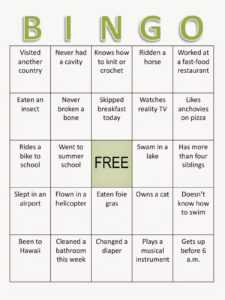 Composition Classroom: Back To School Bingo Ice Breaker throughout Ice Breaker Bingo Card Template