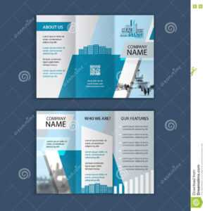 Concept Of Architecture Design With Photo Frame. Trifold throughout Architecture Brochure Templates Free Download