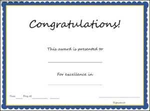 Congratulations Certificate Template pertaining to Congratulations Certificate Word Template