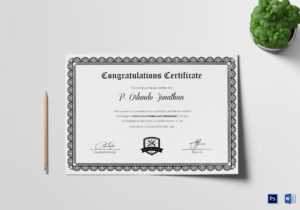 Congratulations Certificate Template with regard to Congratulations Certificate Word Template
