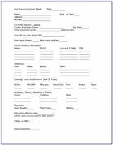 Consent To Rate Form Nc Auto Insurance | Marseillevitrollesrugby for Fake Car Insurance Card Template