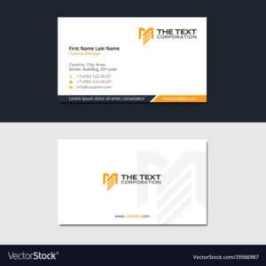 Construction Business Card With Letter M pertaining to Construction Business Card Templates Download Free