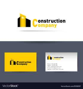 Construction Company Business Card Template within Construction Business Card Templates Download Free