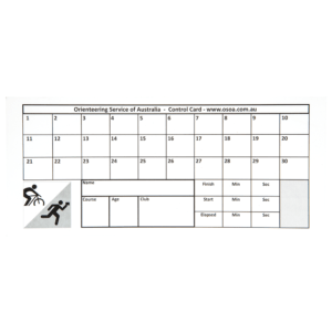 Control Punch Cards in Orienteering Control Card Template