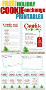 Cookie Exchange Party {Free Printables} – How To Nest For Less™ For Cookie Exchange Recipe Card Template