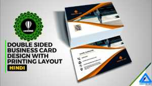 Corel Draw | Business Card Double Sided With Printing Layout | Hindi with 2 Sided Business Card Template Word