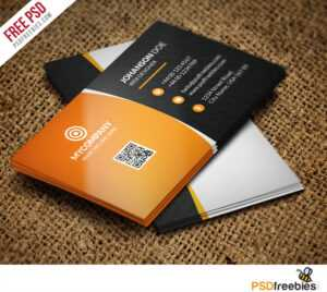 Corporate Business Card Bundle Free Psd – Uxfree in Free Personal Business Card Templates