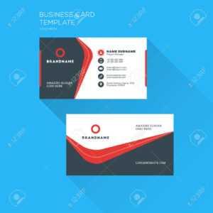Corporate Business Card Print Template. Personal Visiting Card.. inside Free Personal Business Card Templates