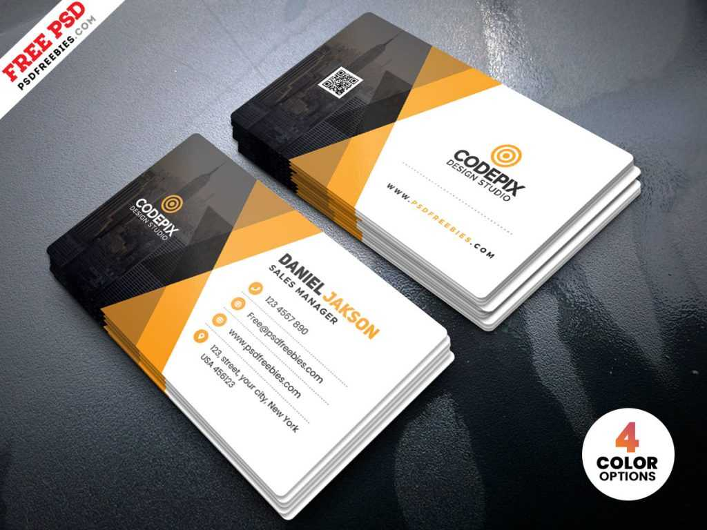 Corporate Business Card Template Psd – Free Download Inside Free Business Card Templates In Psd Format