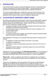 Corporate Credit Card Policy & Guidelines – Pdf Free Download for Corporate Credit Card Agreement Template