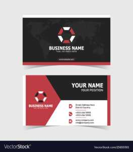 Corporate Double-Sided Business Card Template intended for Double Sided Business Card Template Illustrator