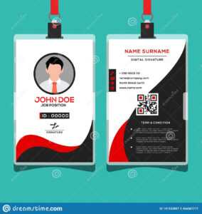 Corporate Id Card Design Template Stock Vector with Company Id Card Design Template