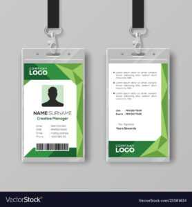 Corporate Id Card Template With Abstract Green with regard to Id Card Template Ai