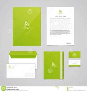 Corporate Identity Eco Design Template. Documentation For inside Business Card Letterhead Envelope Template