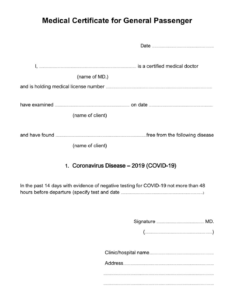 Covid19 Medical Certificate Fit To Fly | Templates At within Free Fake Medical Certificate Template