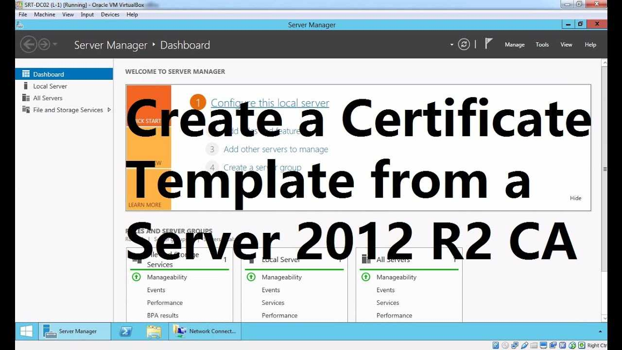 Create A Certificate Template From A Server 2012 R2 Certificate Authority With No Certificate Templates Could Be Found