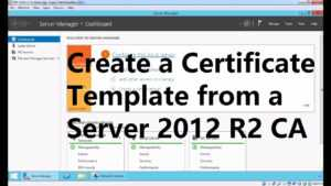Create A Certificate Template From A Server 2012 R2 Certificate Authority with regard to Active Directory Certificate Templates