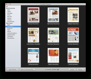 Create A Holiday Newsletter With Pages Or Iphoto | Macworld throughout Mac Brochure Templates
