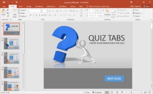 Create A Quiz In Powerpoint With Quiz Tabs Powerpoint Template with regard to Quiz Show Template Powerpoint