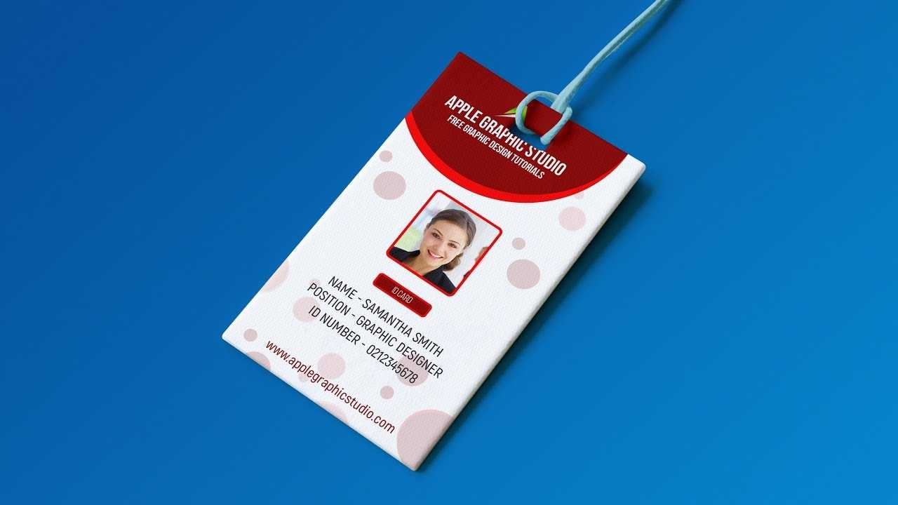 Create Professional Id Card Template - Photoshop Tutorial In Pvc Card Template