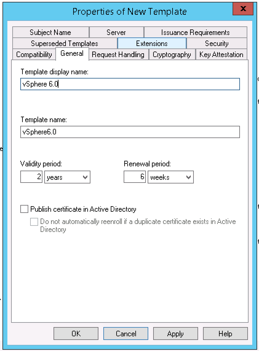 Creating A Vsphere 6 Certificate Template In Active With Regard To Active Directory Certificate Templates