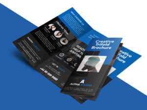 Creative Agency Trifold Brochure Free Psd Template intended for 3 Fold Brochure Template Psd