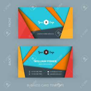 Creative And Clean Business Card Template With Material Design Abstract  Colorful Background pertaining to Web Design Business Cards Templates