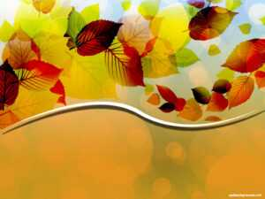 Creative Autumn Leaves Vector Background For Powerpoint within Free Fall Powerpoint Templates