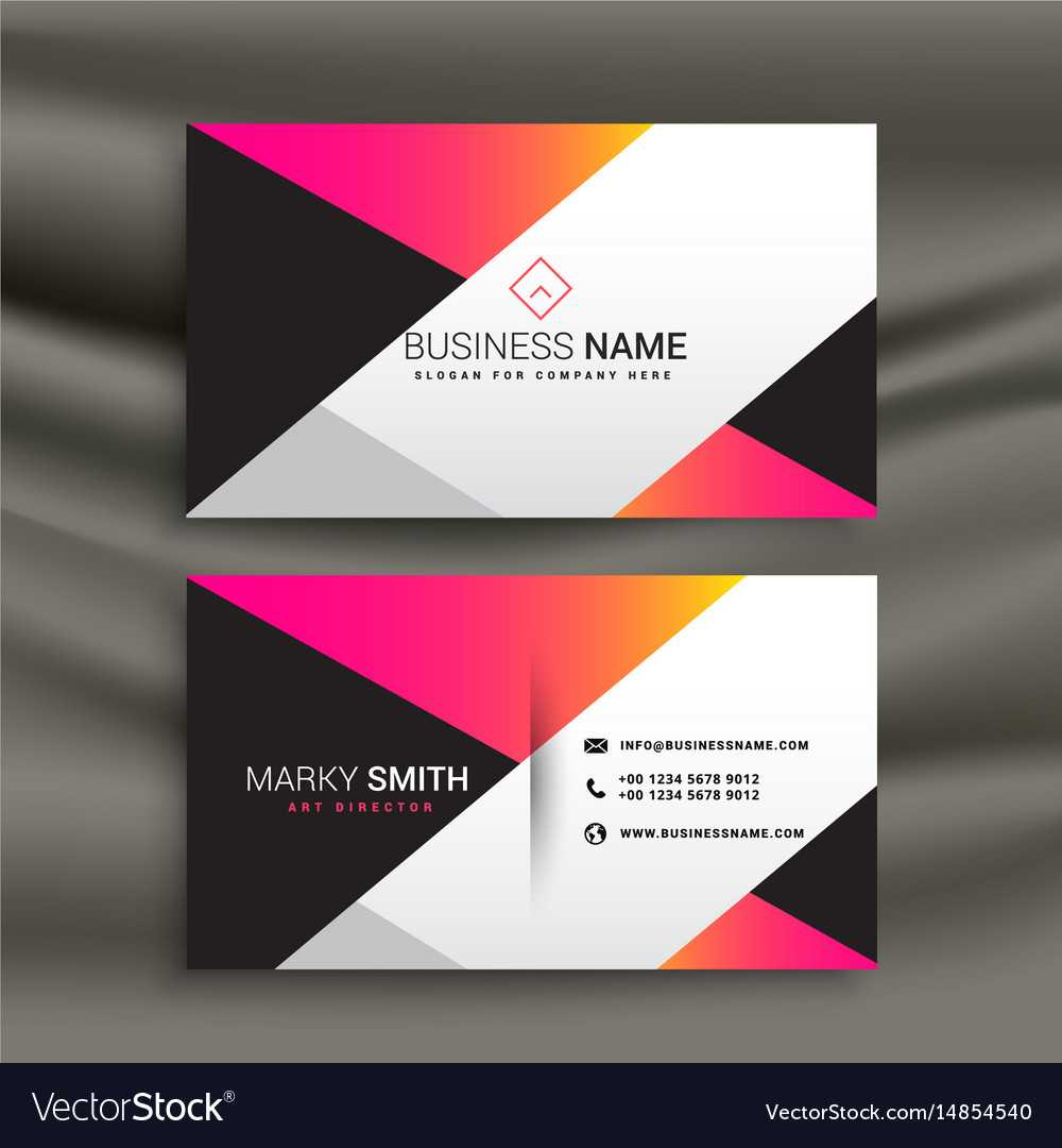 Creative Bright Business Card Design Template Intended For Calling Card Free Template