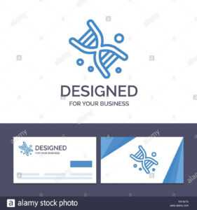 Creative Business Card And Logo Template Bio, Dna, Genetics pertaining to Bio Card Template