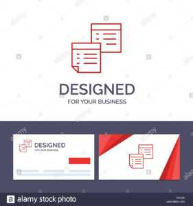 Creative Business Card And Logo Template Sticky, Files, Note for Pages Business Card Template