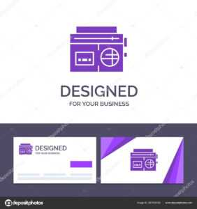 Creative Business Card And Logo Template Tape, Radio, Music pertaining to Med Card Template