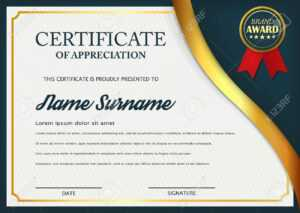 Creative Certificate Of Appreciation Award Template. Certificate.. inside Template For Certificate Of Award
