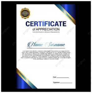 Creative Certificate Of Appreciation Award Template With in Certificate Of License Template