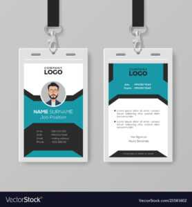 Creative Employee Id Card Template for Id Card Template Ai